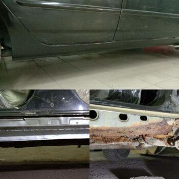 Замена порогов Toyota Corolla